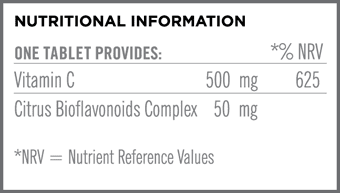 Chewable Vit C 500mg Nutritional Information