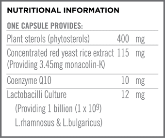 CholesterolBiotix Nutritional Information
