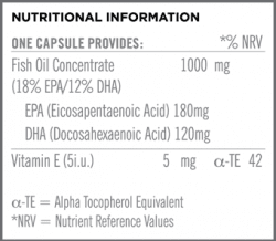 Omega 3 Fish Oil 1000mg Nutritional Information