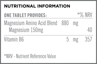 Synergistic Magnesium 150mg Nutritional Information